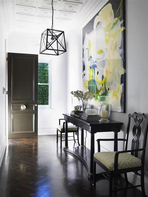 Yellow Foyer by Yellow And Black Foyer Contemporary Entrance Foyer