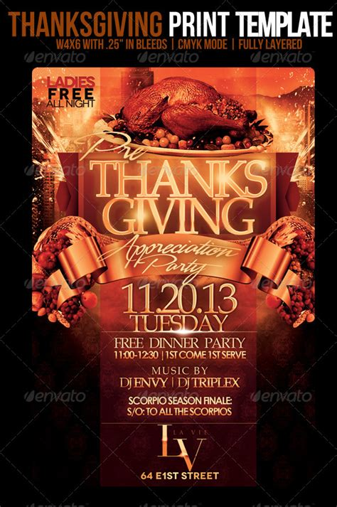 thanksgiving flyer template psdbucket com
