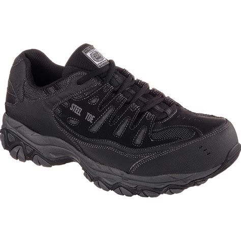 athletic safety toe shoes skechers work relaxed fit crankton steel toe work athletic