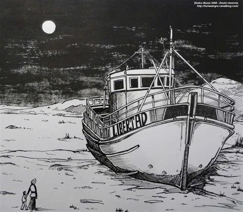 dessin bateau encre de chine libertad furia sangre