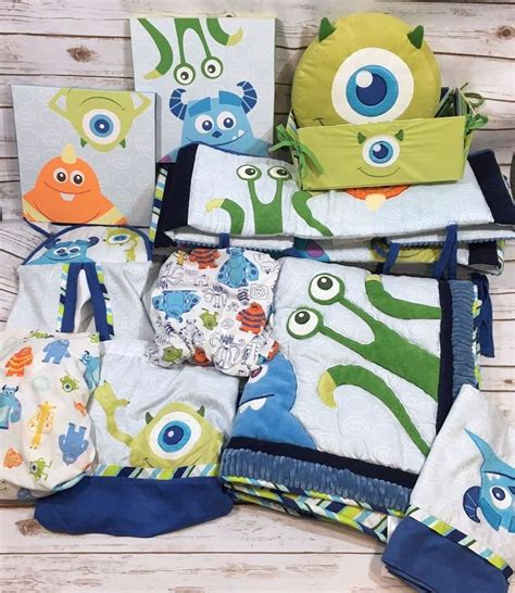 monster inc crib bedding disney baby monsters inc 11pc crib bedding set comforter