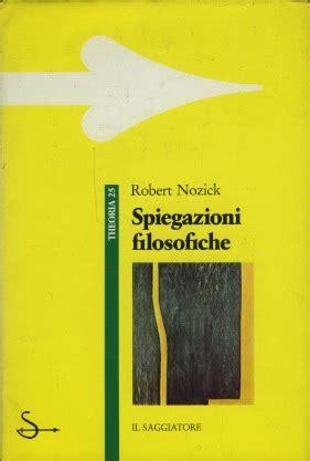 libreria coliseum spiegazioni filosofiche nozick robert