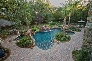 swimming pool with paver deck dallas landscape design abilene landscaping taylor landscape