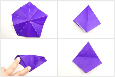 Origami Witch Hat - how to make an origami witch hat