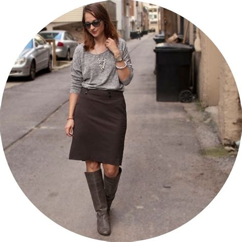 pencil skirt boots