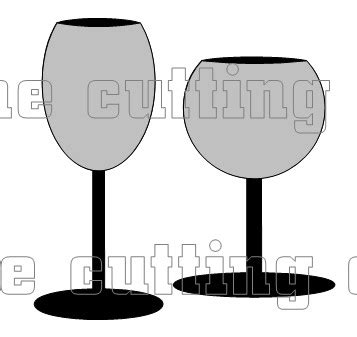 wine glass place cards template the cutting cafe wine glass shaped card template