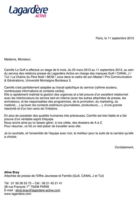 Lettre De Recommandation Master 2 Droit Lettre De Recommandation Qualites Humaines Document