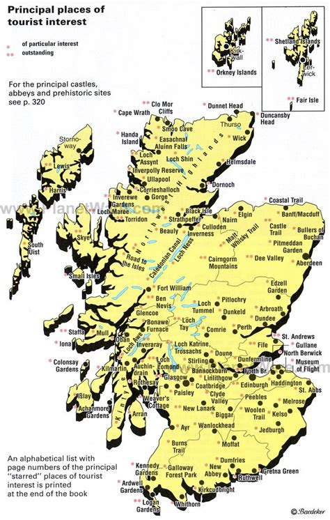 scottland map map of scotland places of tourist interest planetware