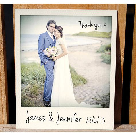 wedding for you personalised instant photo wedding thank you cards by