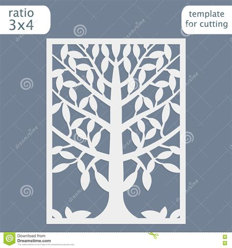templates for cards lace tree cards laser cut wedding invitation card template cut out the