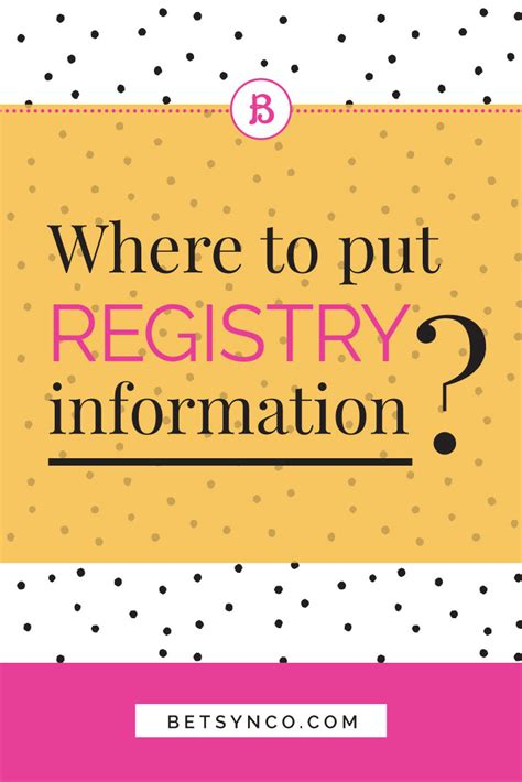 Wedding Registry by Where To Put Wedding Registry Information Betsy N Co