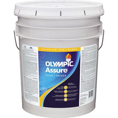 5 gallon exterior paint prices shop olympic icon 5 gallon size container exterior semi