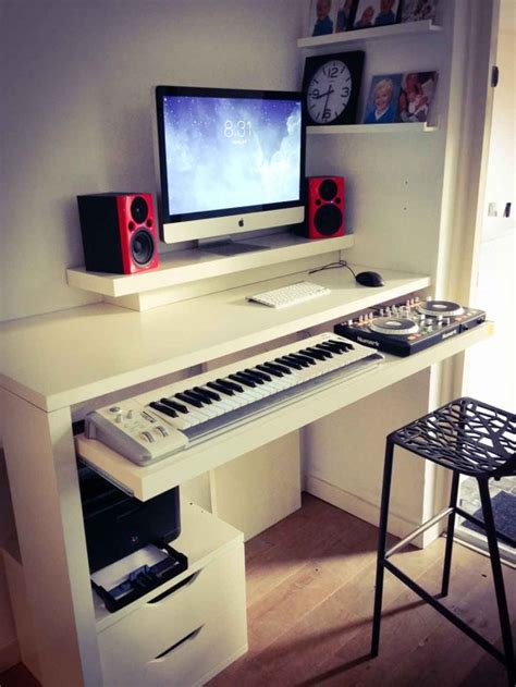 standing desk keyboard tray standing work desk and dj booth ikea hackers hacked the