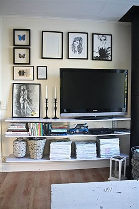 home decor tv wall 30 ways to decorate the tv wall bored art