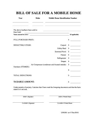 boat bill of sale without notary mobile home bill of sale fill online printable