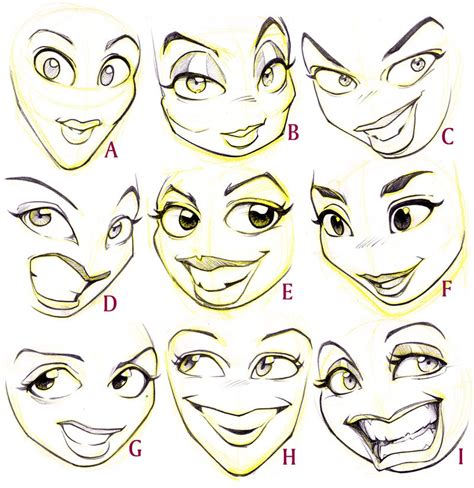 faces how to draw heads features expressions academy faces by jonigodoy deviantart on