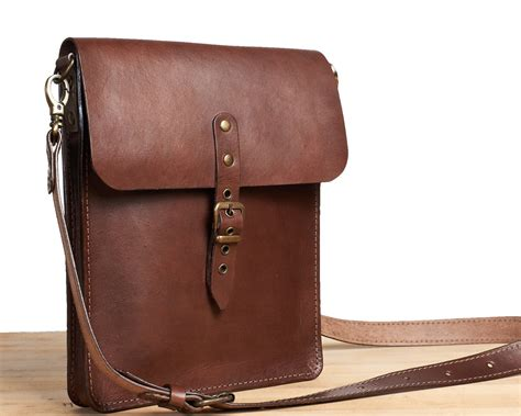 Small Leather by Small Leather Crossbody Bag Brown Leather Saddle Bag Mens