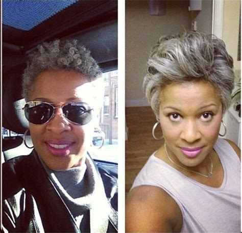 short hair styles for salt and pepper natural hair styles for women gray hairstyle for black women