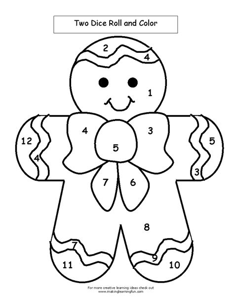 gingerbread color coloring worksheet gingerbread coloring pages
