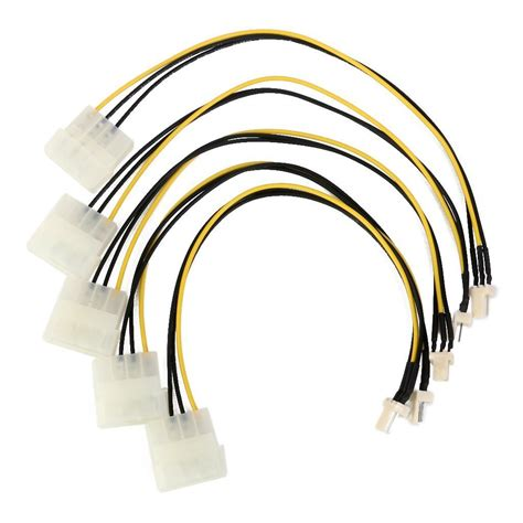 cpu fan 4 pin to 3 pin cable 4 pin molex ide to 3 pin cpu fan power line in