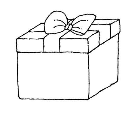 coloring pages christmas gift boxes gift box