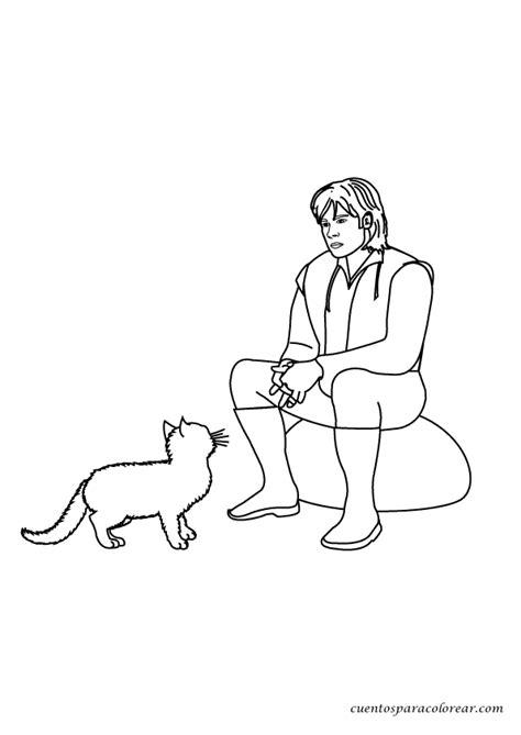 Dibujos para colorear El gato con botas