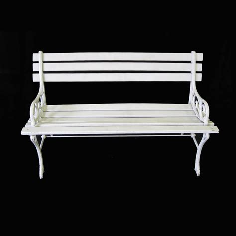 white bench white park bench 20 00 geyer wedding and event rentals