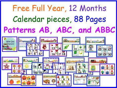 free printable monthly calendar headers free full year of calendar numbers and headers free