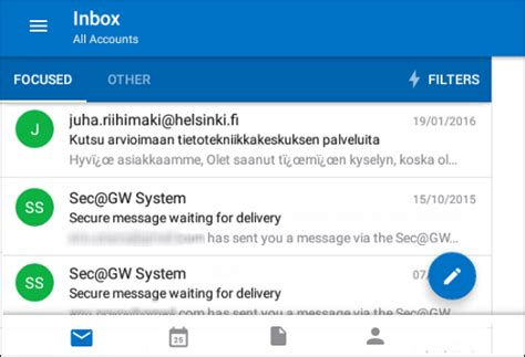 Office 365 Mail Helsinki Outlook In Mobile Devices Helpdesk
