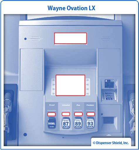 Wayne Dresser Dispensers by Wayne Ovation Lx Dispenser Shield 174 Kit Dispenser