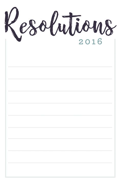new year resolution template list1 happy new year 2018 info