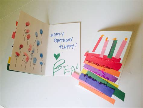 E Birthday Cards For Toddlers birthday cards made by toddlers rainbow cake w