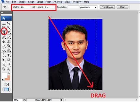 cara edit foto ukuran 3x4 di photoshop merubah ukuran pas foto dan dicetak menggunakan photoshop