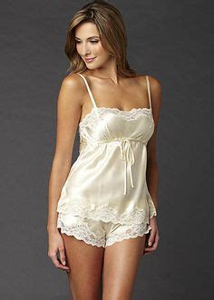 Set Sleeveless Playsuit Camisole silk with quot shorts quot robe de nuit