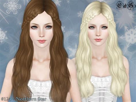sims 3 hair braid tsr the sims resource over cazy s northern star hairstyle set