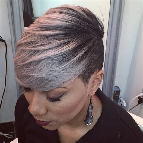 short afro gray styles african american gray hairstyles for women