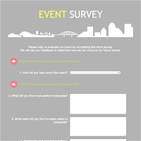 event survey template word does free website make money event survey template word make money everyday