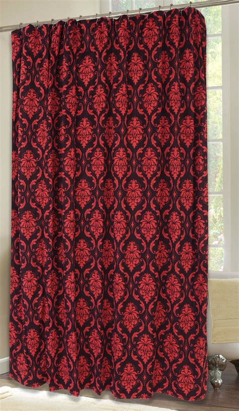 red damask curtains red damask shower curtain carstens inc