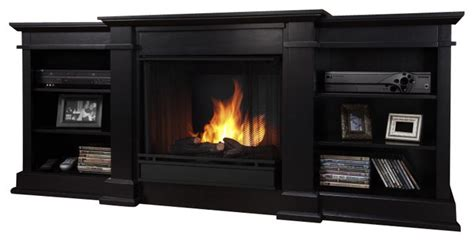 real fireplace tv stand real fresno indoor gel tv stand fireplace in black