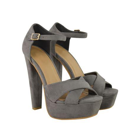 High Grey grey chunky heels is heel