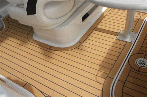 boat soft flooring boat floor replacement composite material synthetic teak