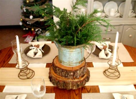 great rustic christmas table decorations ideas with