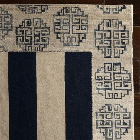 Zeba Rugs by Zeba Knotted Rug Blue Williams Sonoma