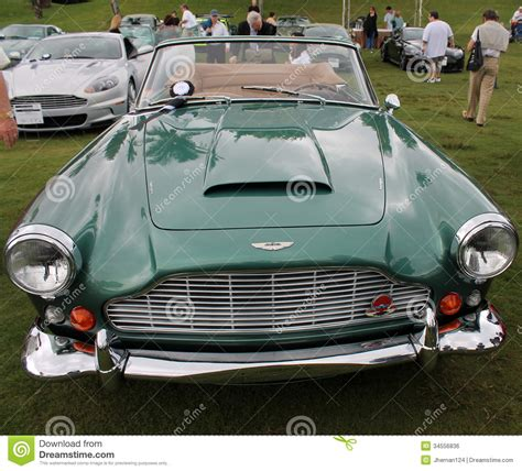 green aston martin convertible classic 1960s aston martin convertible editorial photo