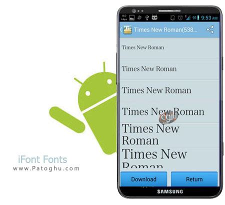 fonts for android تغییر فونت گوشی های اندروید با نرم افزار ifont fonts for android 5 7 7 دانلود رایگان