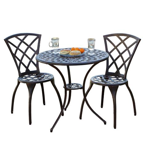 bistro table set glenbrook bistro set best patio furniture sets