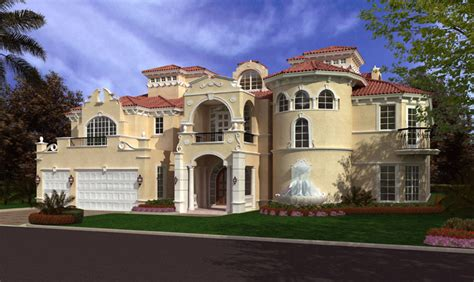 spanish mediterranean house plans luxury spanish luxurious spanish mediterranean style waterfront home 8441