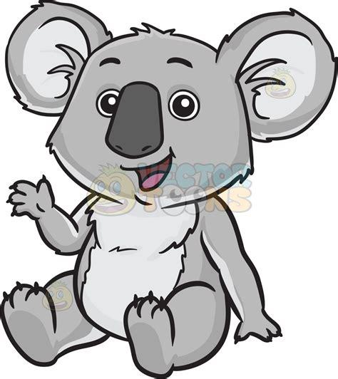 koala clipart a happy koala clipart vector