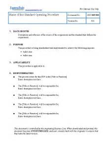 Standard Outline Format by Standard Operating Procedure Pictures To Pin On Pinsdaddy
