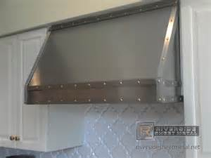 National Kitchen Cabinet Association stainless steel custom hood vent with band and brass rivets